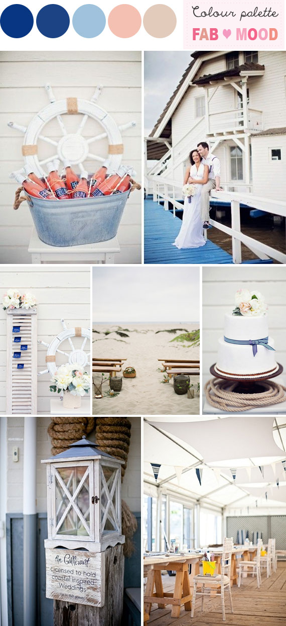 Nautical Beach Wedding ideas, nautical themed beach wedding