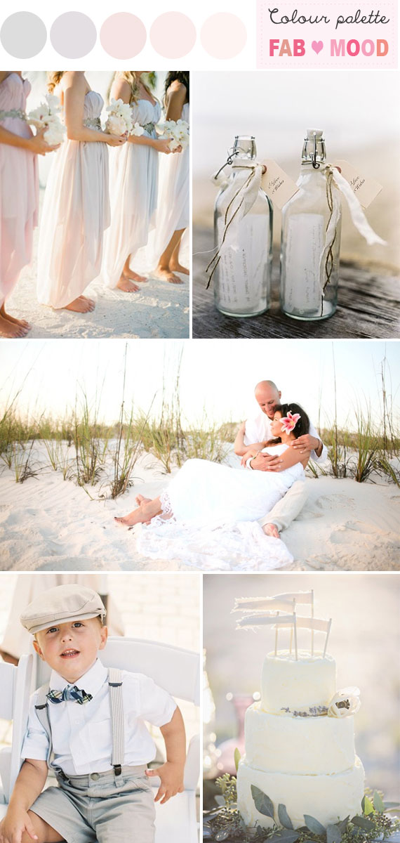 vintage chic beach wedding