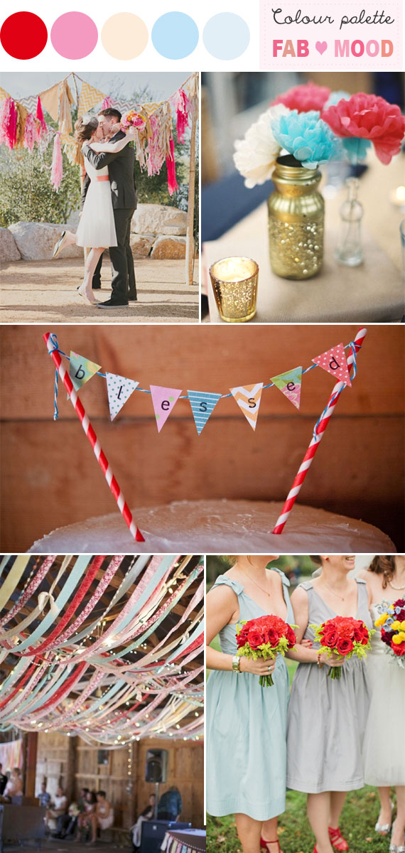 Retro Wedding Colors, retro wedding color schemes