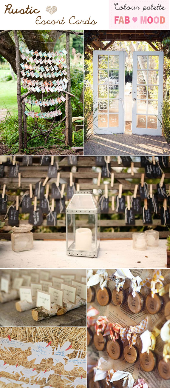Rustic Escort Cards Ideas