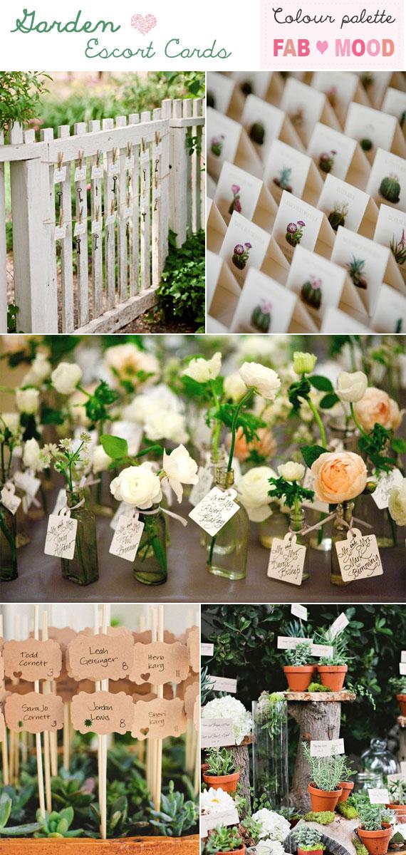 garden escort cards ideas,garden escort cards display
