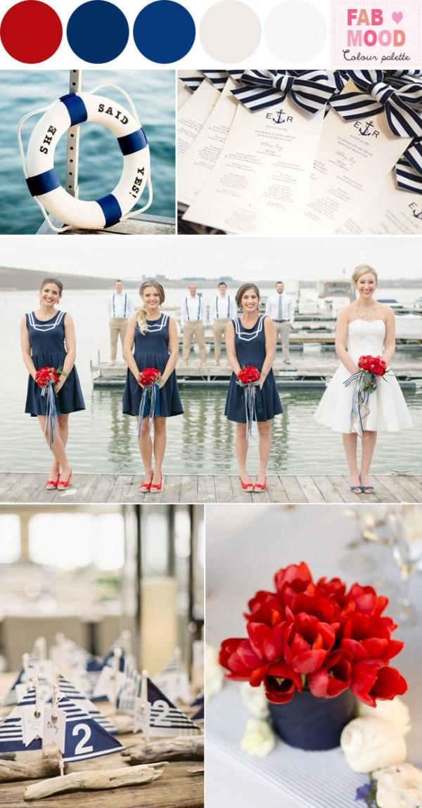 nautical red wedding theme ideas