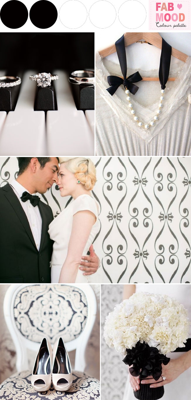black white wedding ideas,modern black white wedding palette