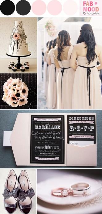 blush black wedding ideas