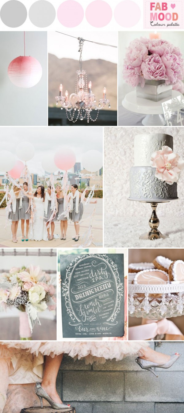grey pink wedding theme,grey pink wedding ideas, fab mood wedding board,grey pink wedding color palette