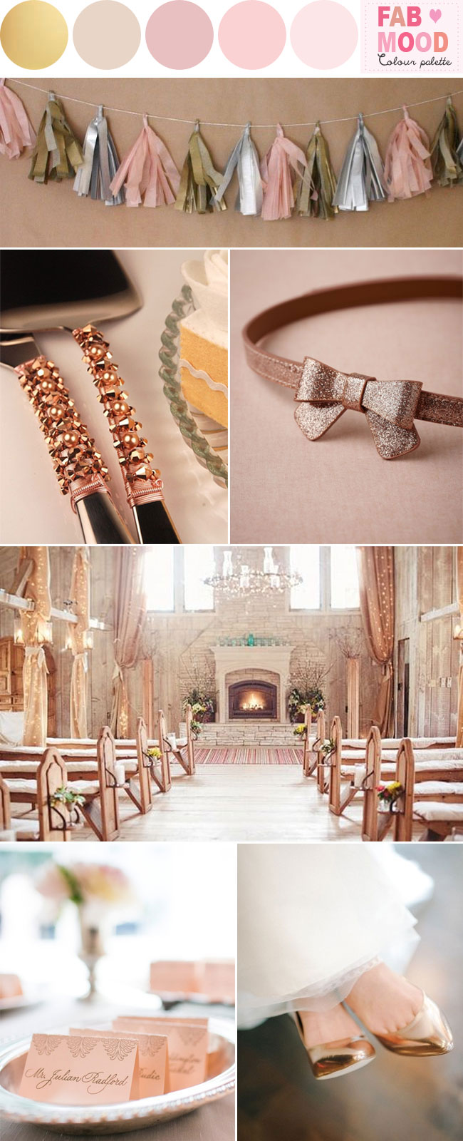 Rose Pink And Gold Wedding