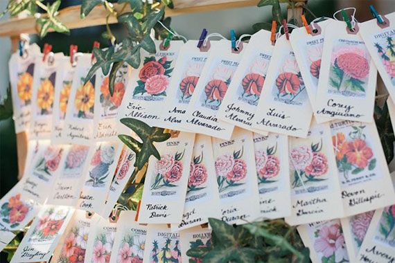 Seed Packet Escort Cards Fab Mood Wedding Colours