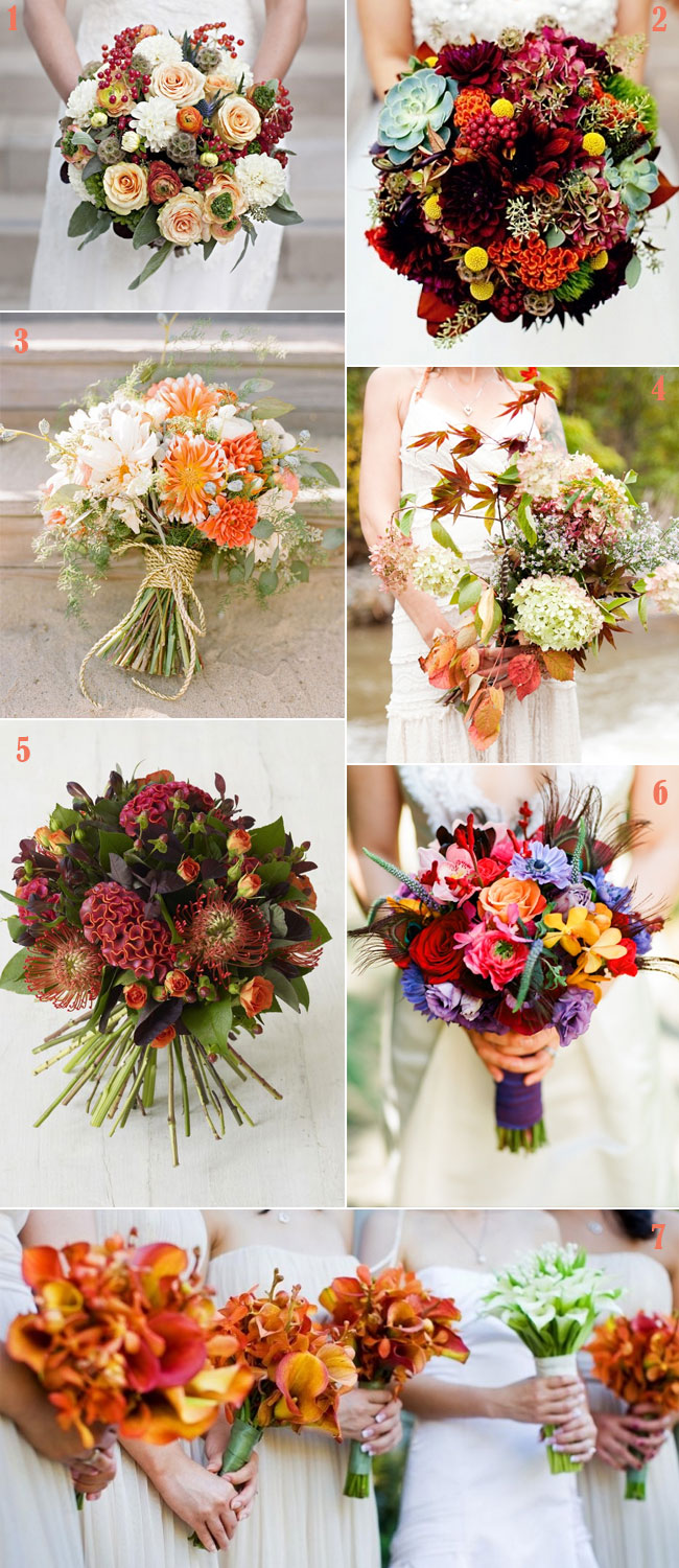 fall wedding bouquet, autumn wedding bouquet
