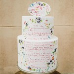wedding cake ideas,wedding cake with hand painted quotes