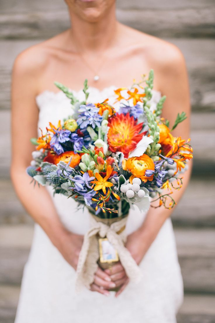Purple orange and yellow wedding bouquet purple orange wedding bouquet mightylinksfo