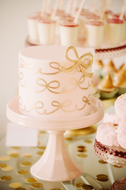 Pink & Gold Wedding Cake - Fab Mood | Wedding Colours, Wedding ...