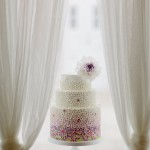 ombre lilac wedding cake