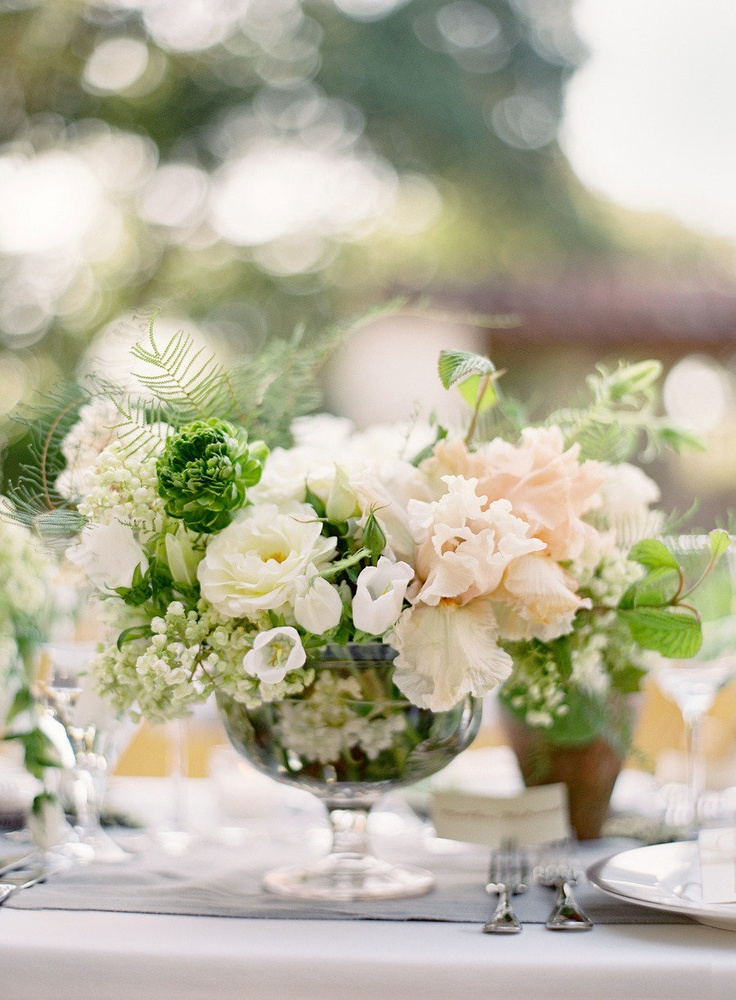 Green And White Centerpiece Fab Mood Wedding Colours