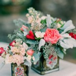 tea tin centerpieces,wedding centerpieces