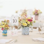 wedding centerpieces,English tea tin centerpieces