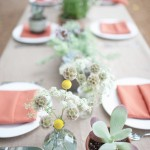 mint wedding centerpieces ideas
