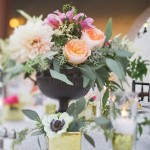 wedding centerpieces,Soft pink and peach centerpiece