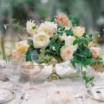 Elegant Peach green centerpiece