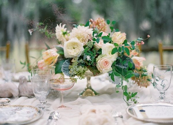 Floral wedding centerpieces for tables