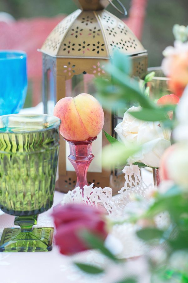 Peach lantern as wedding centerpieces fab mood