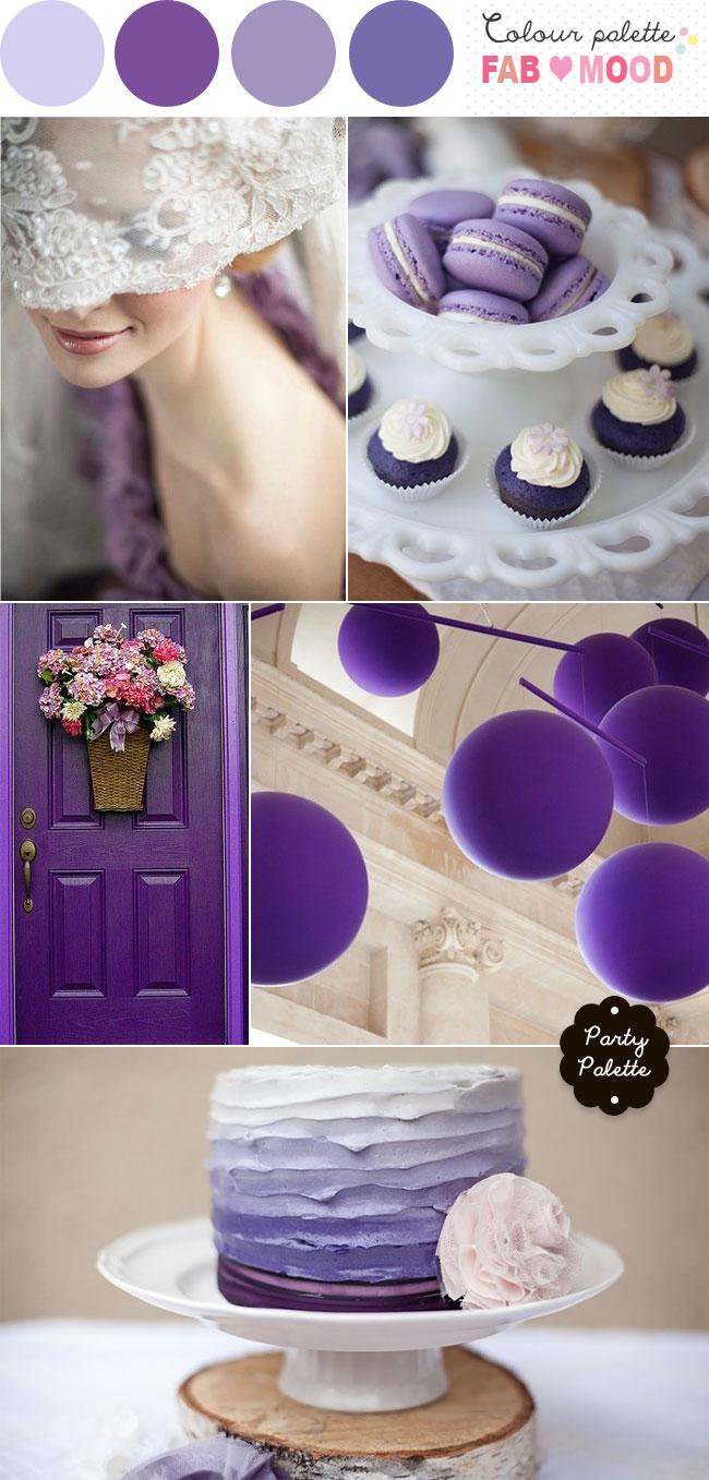 Purple Wedding Color Palette Shades Of Purple Wedding Party