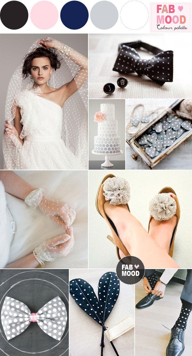 Polka Dot Wedding Theme Ideas White Black Polka Dot