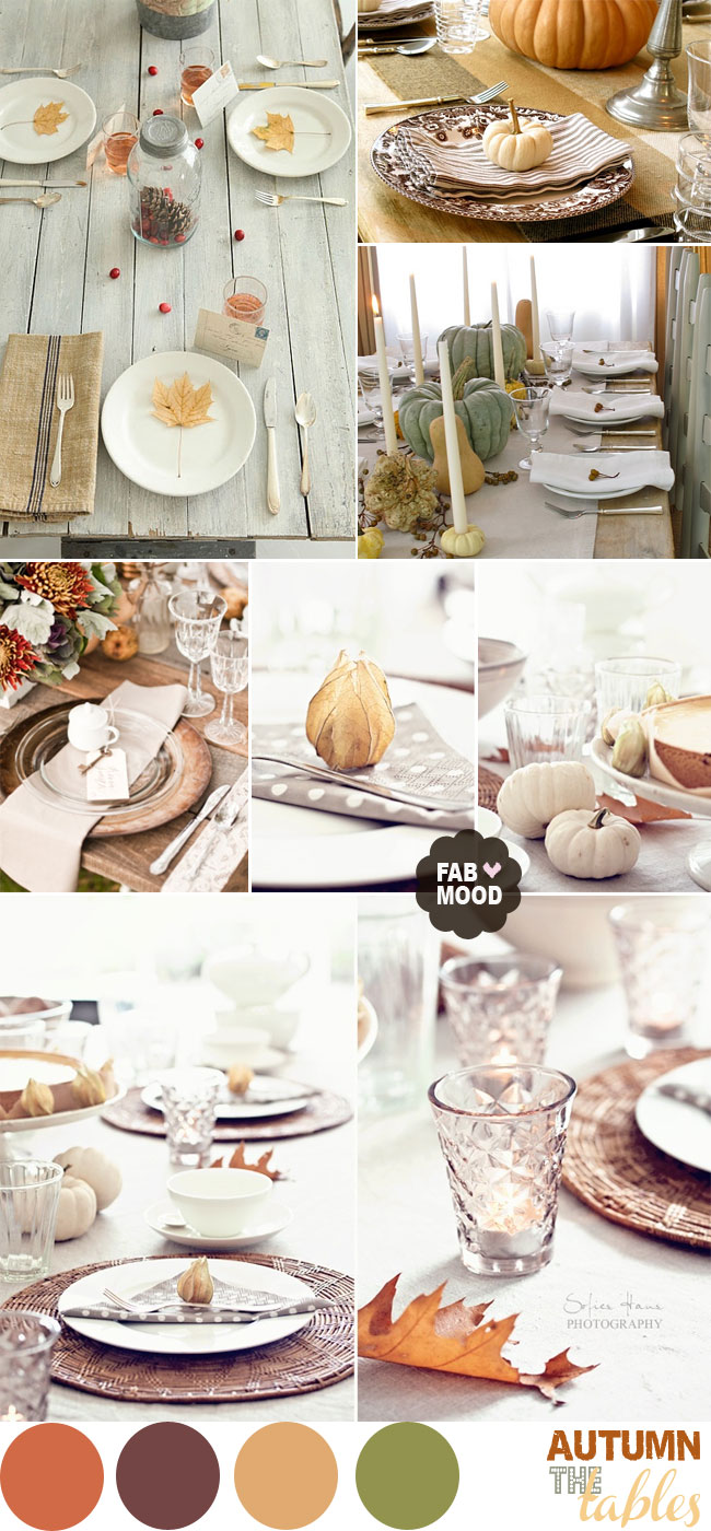 Autumn Wedding Table Setting Ideas Fall Wedding