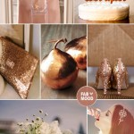 Dusty Pink & Copper Autumn Wedding Colours Palette
