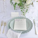 Mint white table setting