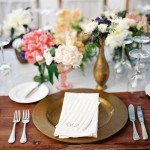 pink gold wedding table setting, wedding place setting,wedding table setting ideas