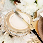 Gold wedding china place setting,wedding place setting