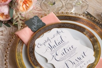place setting,wedding menu ideas,calligraphy wedding menu