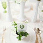 wedding reception ideas,wdding reception table decor,Gold, Green & White wedding place setting