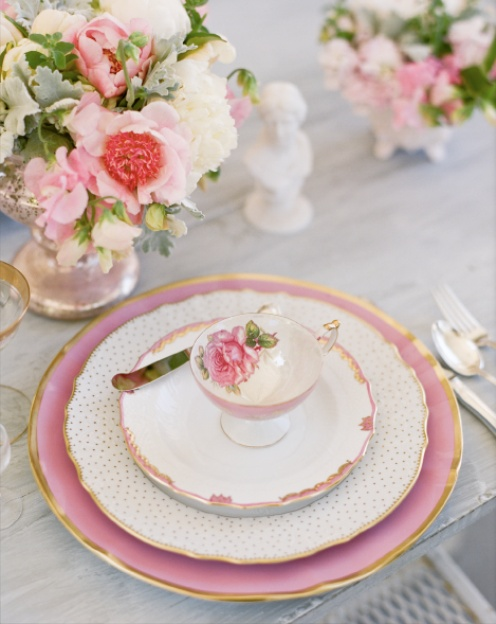 wedding place setting wedding reception ideaswedding reception details ideaspink mismatched antique : pink wedding table settings - pezcame.com