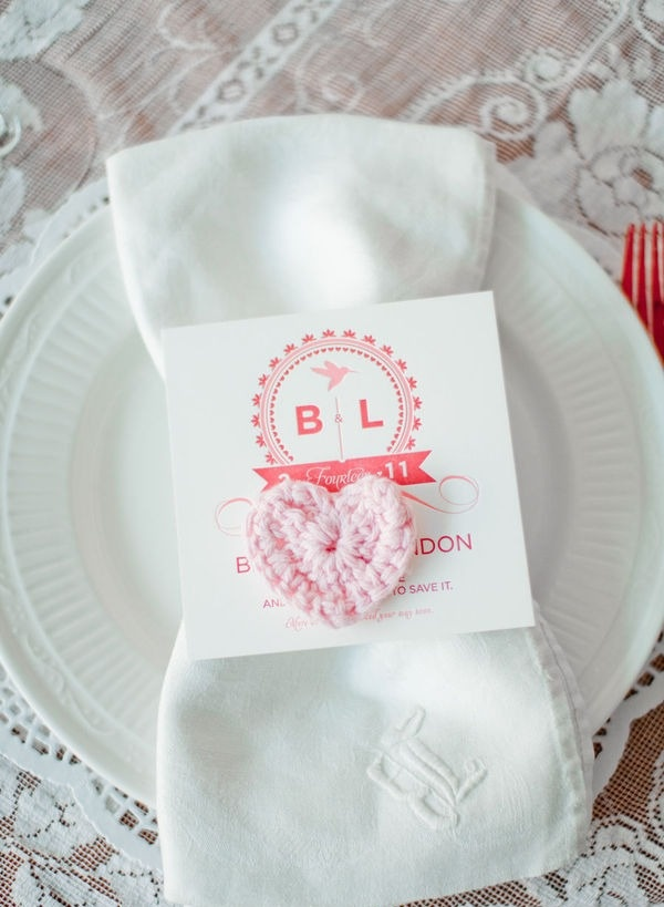 DIY Pink Wedding Place Setting