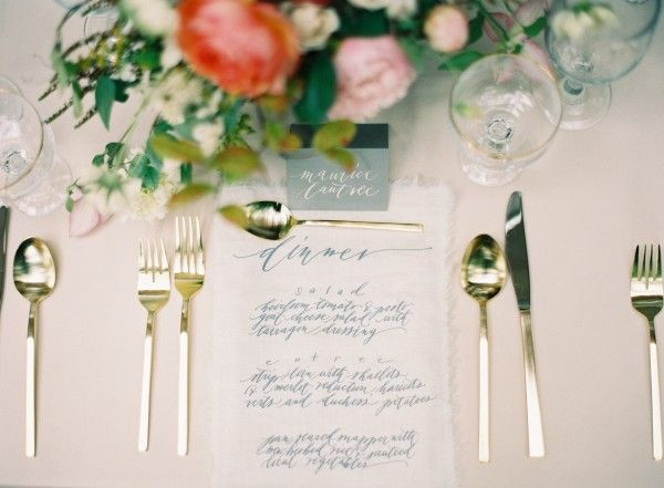 Elegant Calligraphy Wedding Reception Menu Card Fab Mood Wedding