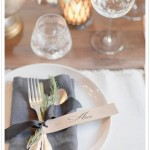 Rustic modern wedding inspiration,wedding table setting,wedding place setting ideas