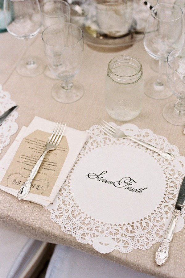 Lace Wedding Place Setting Fab Mood Colours