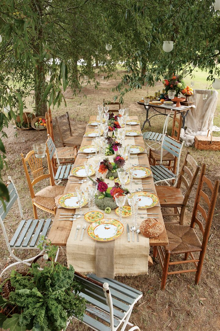 Country Wedding Table Ideas Burlap