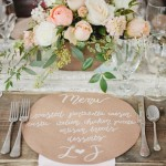 wedding reception table ideas, menu wedding reception
