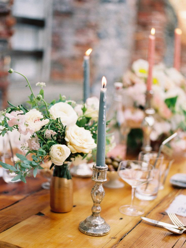 Wedding table decorations with candles for Small table decorations for weddings