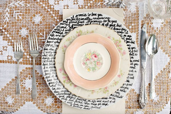 wedding place setting ideas,literature Wedding Inspiration