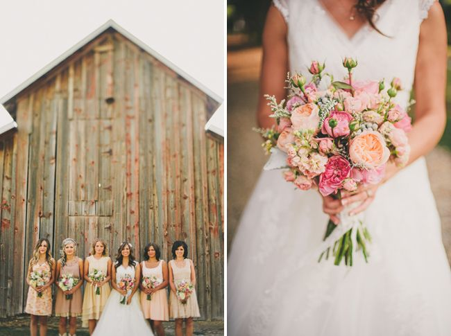 mismatched bridesmaids,autumn bridesmaids
