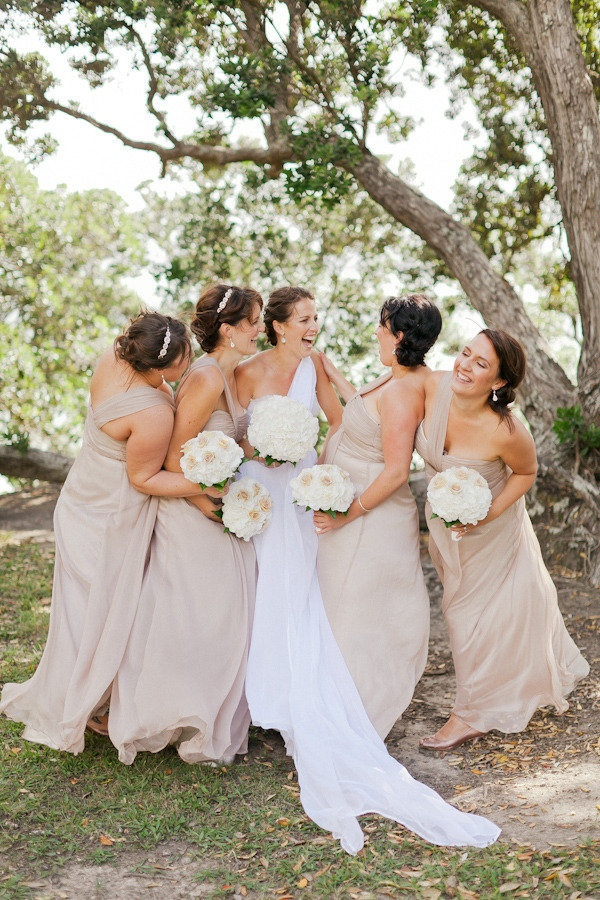 Neutral Bridesmaid Dress Colour