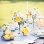 wedding tablescape,blue & yellow wedding tablescape