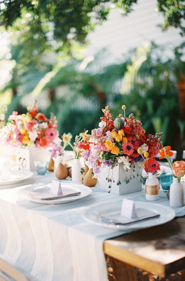 Colorful Wedding Tablescape