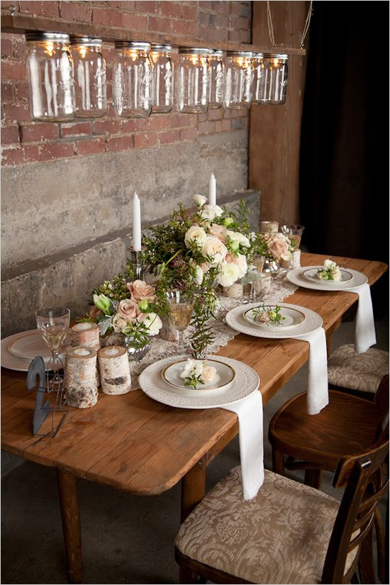 Rustic Wedding Tablescape Fab Mood Wedding Colours