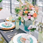 wedding tablescapes,spring wedding table scape
