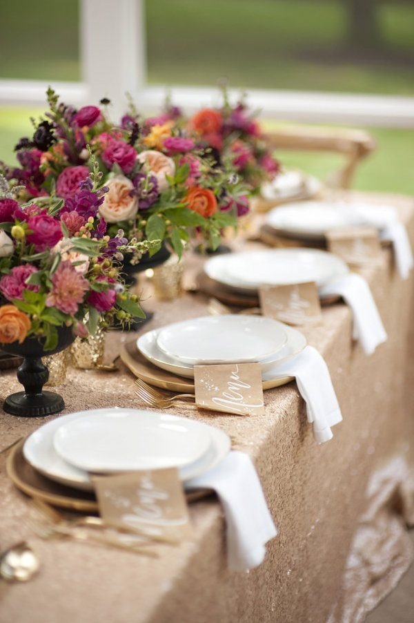 Gold wedding table setting ideas - Fab Mood | Wedding Colours ...
