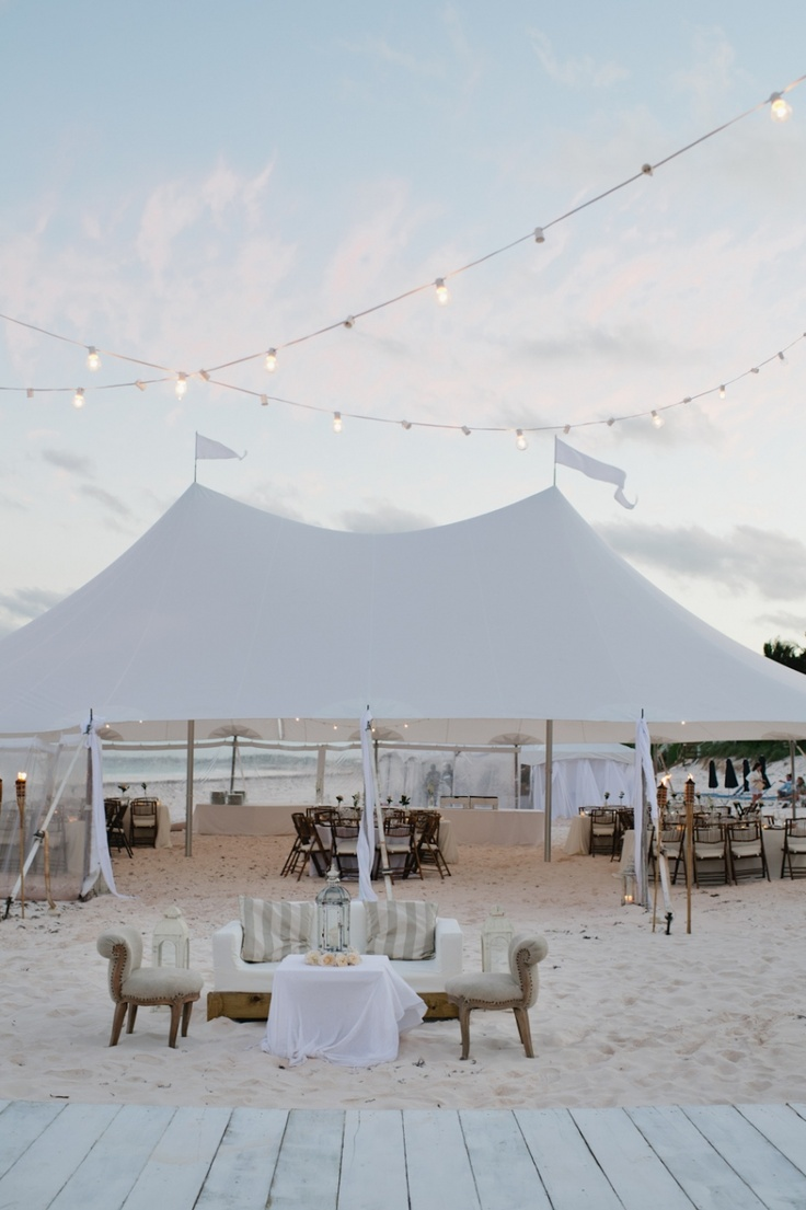Tented Wedding Reception On The Beach Lounge